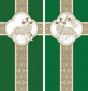 Ad Crucem Agnus Dei Ordinary Time Banners Set of Two