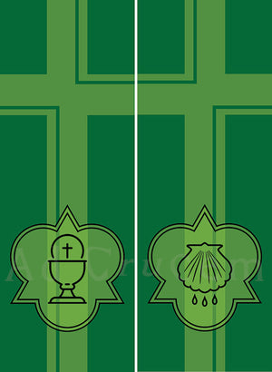 Ad Crucem Two Banner Set - Ordinary Time Sacraments