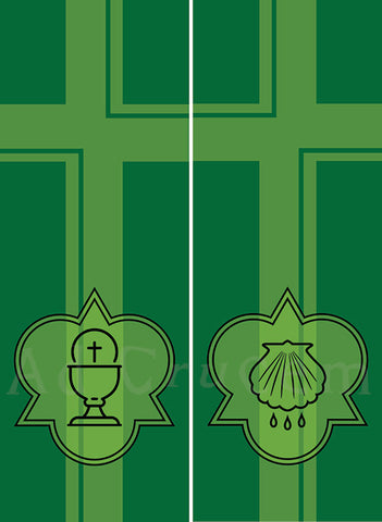 Ad Crucem 9' Two Banner Set - Ordinary Time Sacraments