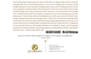 Ad Crucem Blank Luther Rose Card