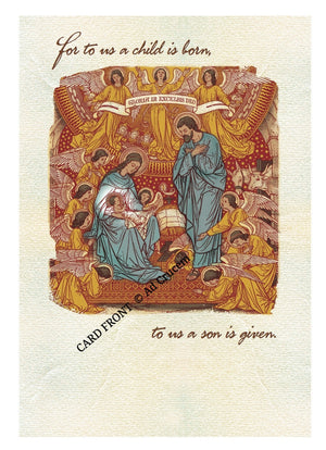 Ad Crucem Christmas Card A Child Is Born to us!