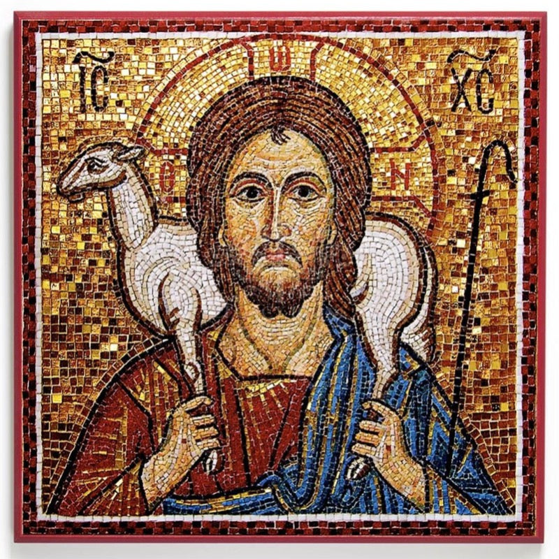 Icon Reproduction - Christ the Good Shepherd Mosaic