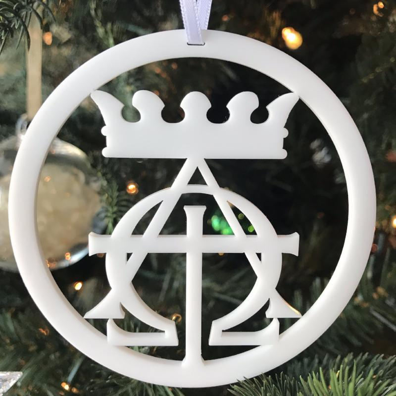 Ad Crucem Christmon - Crown, Alpha Omega and Cross