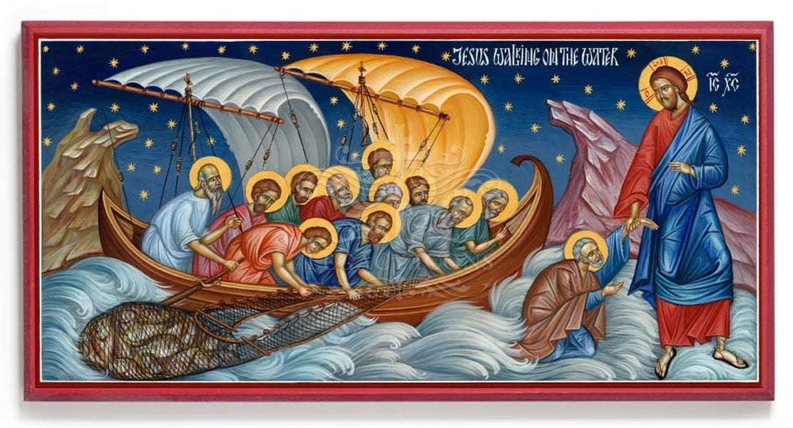 Icon Reproduction - Jesus Walking on the Water