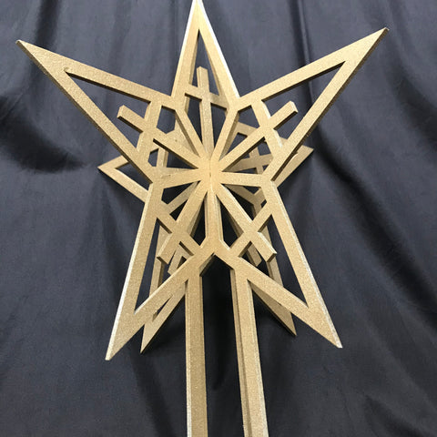 Christmas Tree Topper - Gold