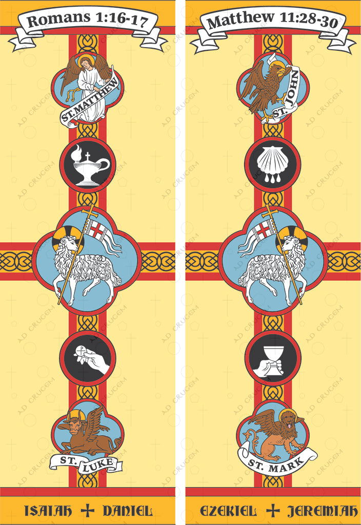 Ad Crucem Set of 2 Banners -  The Four Gospels