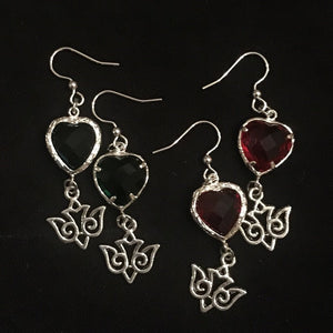 Rachel's Heart and Dove Earrings