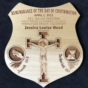 Confirmation Remembrance Shield - Personalized