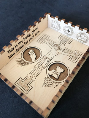 Ad Crucem Laser Engraved Personalized Confirmation Remembrance Box
