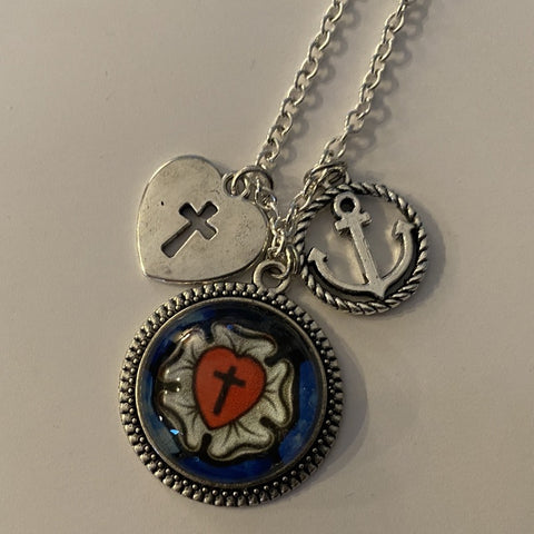 Rachel's Luther Rose and Charms Pendant