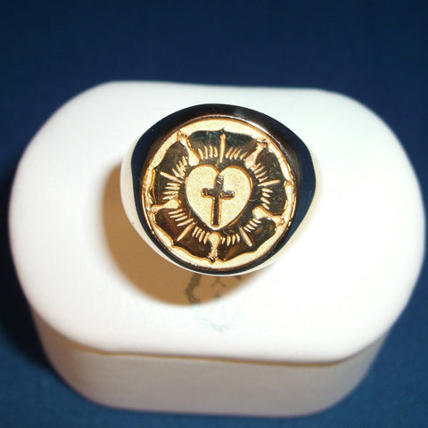 A Pastor Coffey Luther Seal Signet Ring