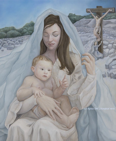 Agnus Dei - Madonna and Child - Signed Giclee Print