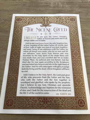 Ad Crucem Nicene Creed Poster