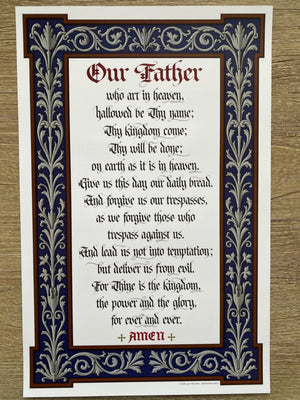 Ad Crucem Lord's Prayer Poster