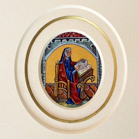 Kandy Vermeer Phillips - St. Hildegard Von Bingen on Vellum