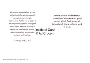 Ad Crucem Pastor Card - Sir, we wish to see Jesus