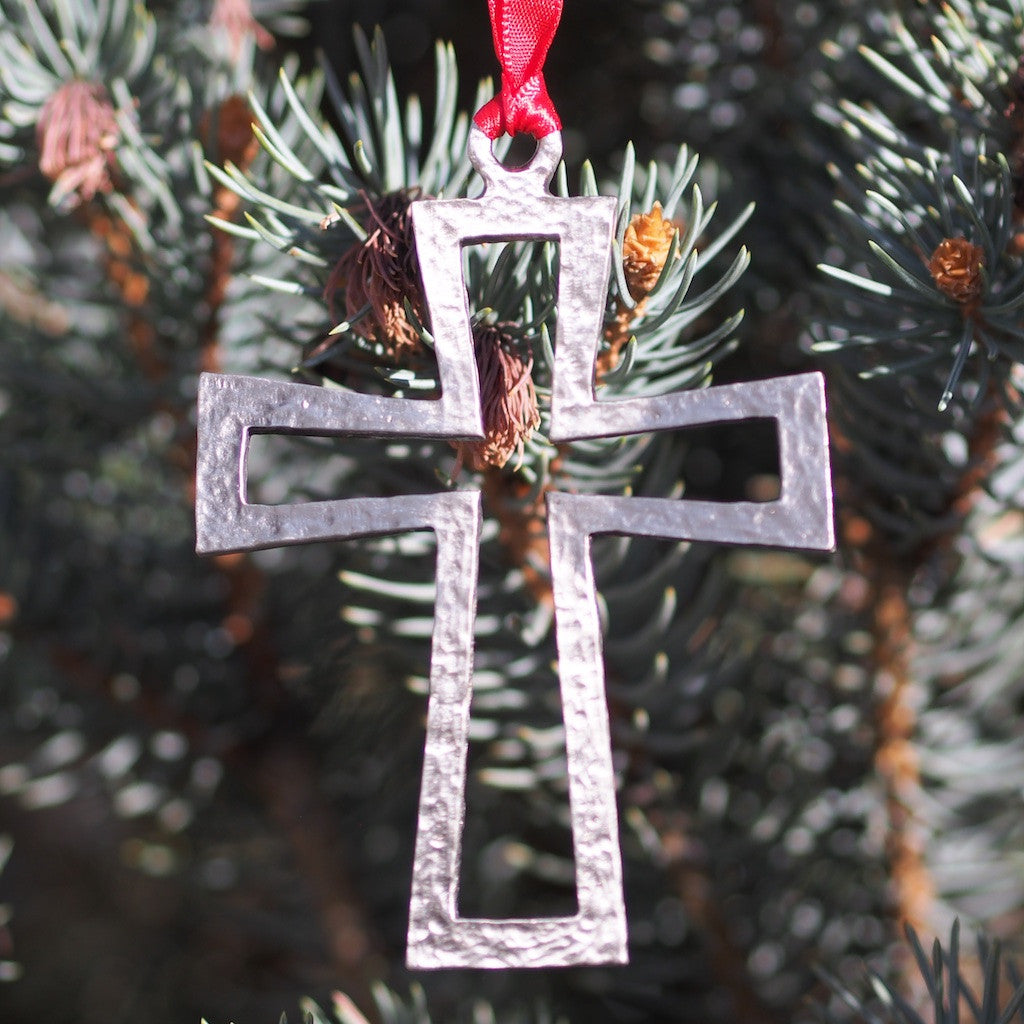 Ad Crucem Pewter Cross Ornament
