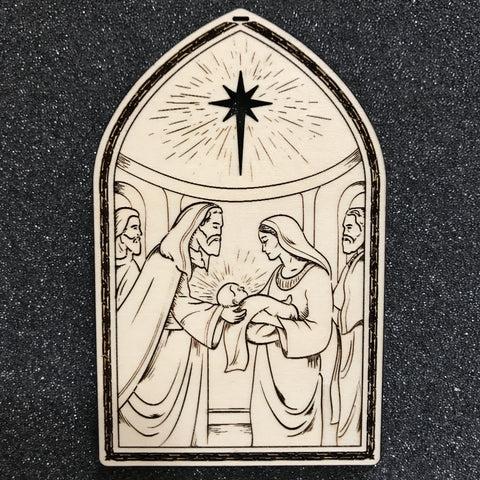 Ad Crucem Christmas Ornament - Presentation of the Christ Child at the Temple