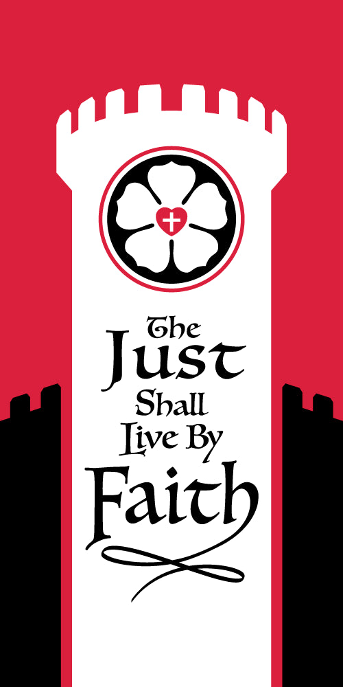 Scapegoat Studio - Reformation Banner - The Just Shall Live By Faith