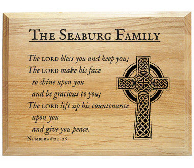 Lord Bless You and Keep You Bible Verse Alder Wood Plaque
