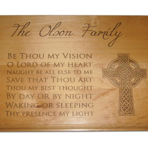 Be Thou My Vision Alder Wood Plaque