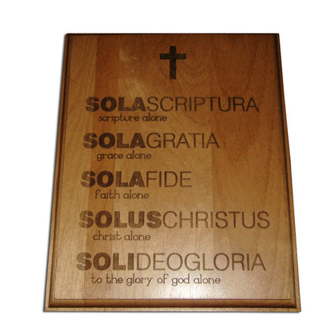 Five Solas Alder Wood Plaque