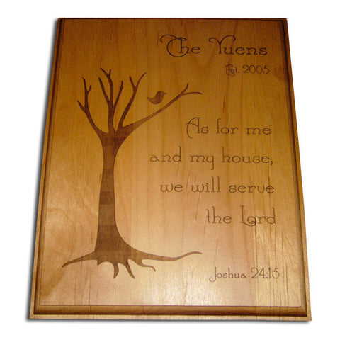 Me and My house Alder Wood Plaque II