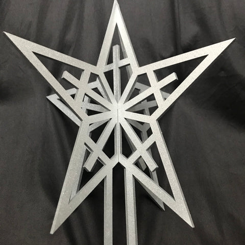Christmas Tree Topper - Silver