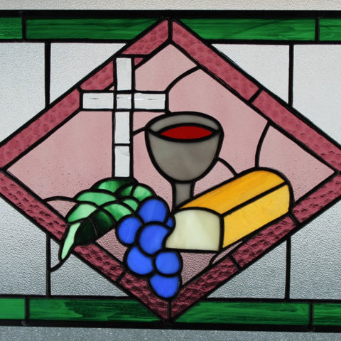 Bread of Life Stained Glass Hanging Piece
