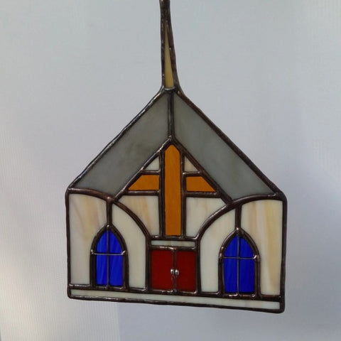 Stained Glass Church Sun Catcher