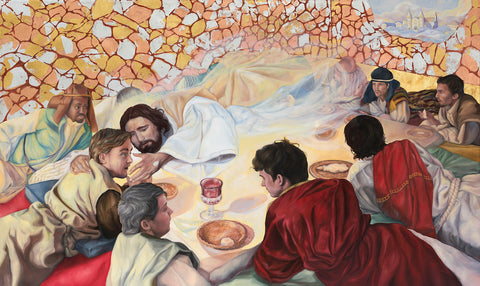 Agnus Dei - The Heavenly Banquet Matthew 26:29 - Signed Giclee Print
