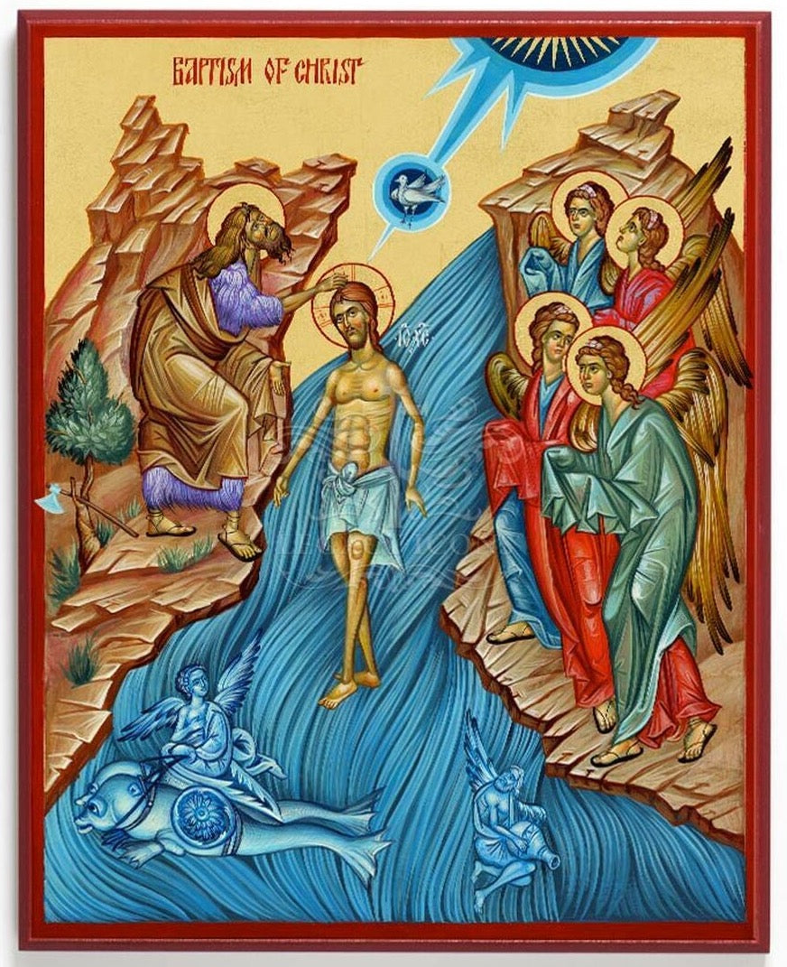 Icon Reproduction - The Baptism of Christ
