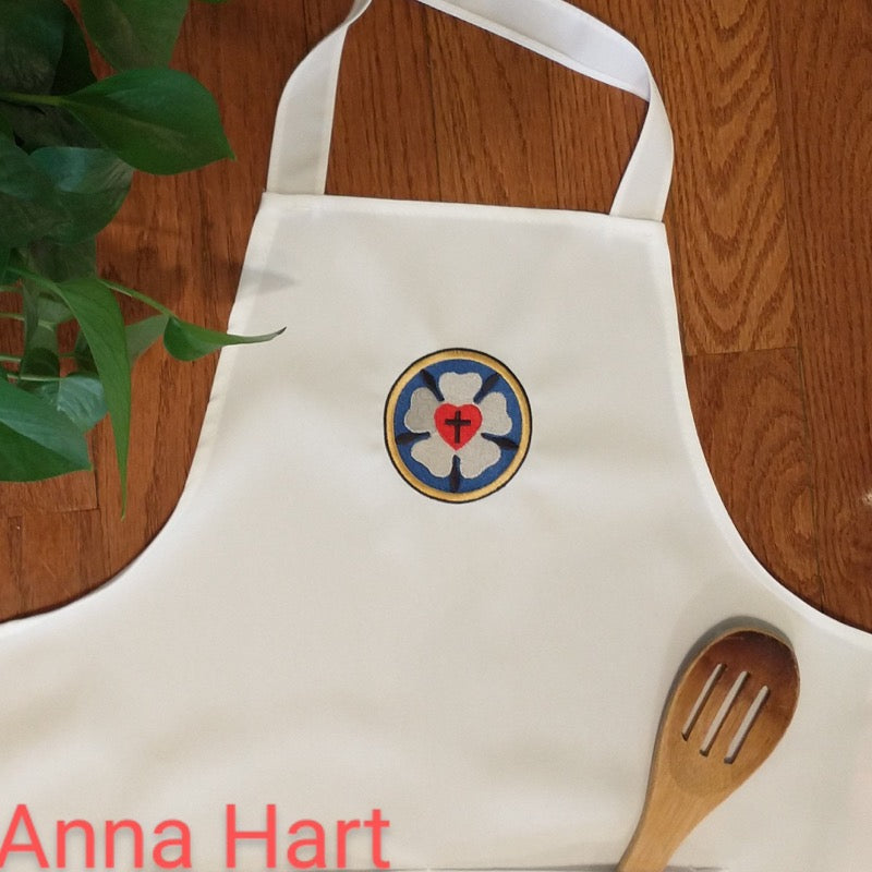 Anna Hart - Luther Rose on White Apron