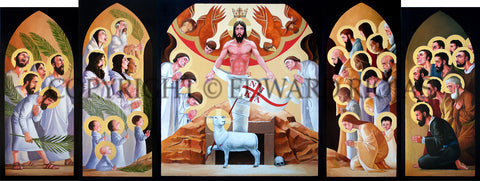 Ed Riojas' Zion Altarpiece: Easter Opened