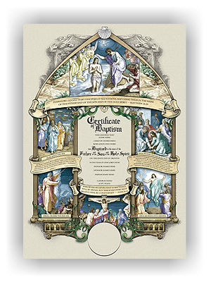 Wolfson Congregational Baptismal Certificate (unlimited Printing) - Recipient