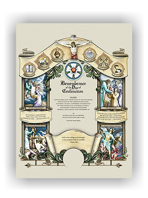 Congregational Confirmation Certificate (unlimited printing) - Wolfson
