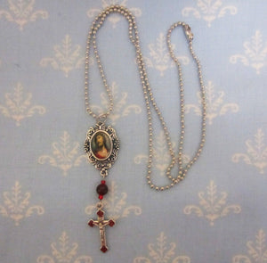Kelly's Ecce Homo Necklace Garnet