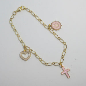 Kelly's Faith Hope Love Charm Bracelet