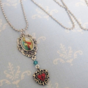 Kelly's Good Shepherd Necklace - Red and Emerald