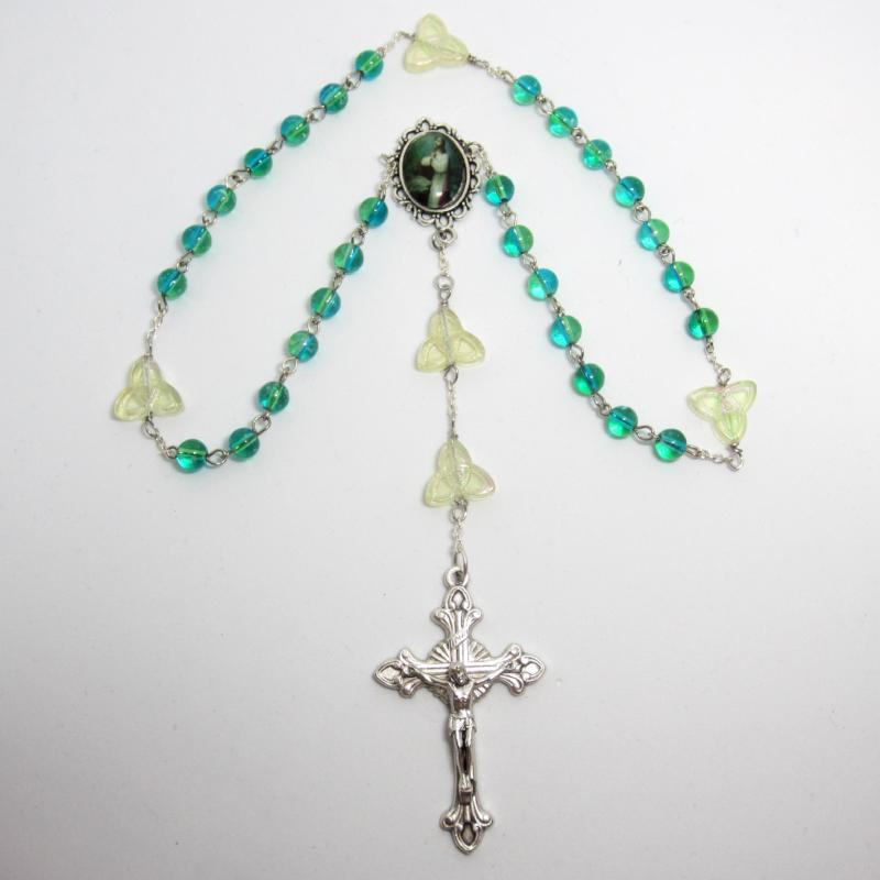 Kelly's Green Trinity Prayer Beads