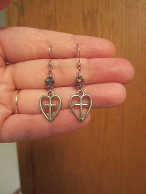 Kelly's Cross Heart Earrings