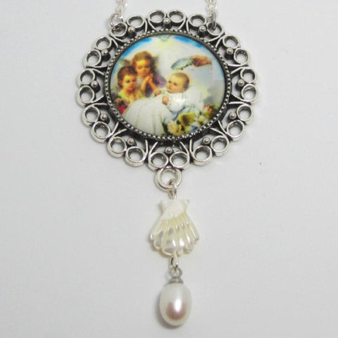Kelly's Baptism Pearl Drop Ornament