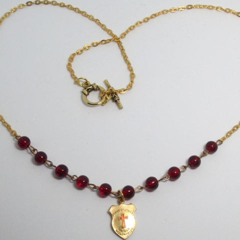 Kelly's Blood of Christ Shield Necklace