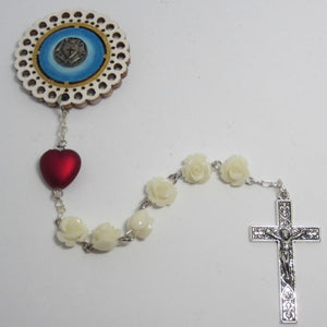 Kelly's White rose Lutheran prayer chaplet