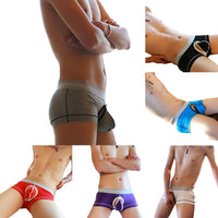 Sexy Men Underwear Soft Breathable Detachable Bulge Pouch Boxer Briefs Shorts