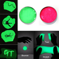 Luminous Rubber Mud Plasticine Playdough Stress Relief Kid Adult DIY Clay Toy
