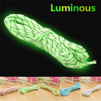2.5/5M 9 Strand 550lb Luminous Parachute Cord Cable Camping Nylon Braided Rope