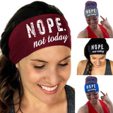 Fashion Women Headband Yoga Gym Sports Accessory Letter Print Headwear Sweatband