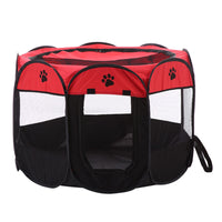 Foldable Portable Pet Playpen Dog Cat Exercise Pen Kennel Oxford Cloth 8 Sided Cage