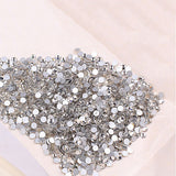 1440 Pcs 1.6mm/2mm Shining Rhinestone Flat Back Nail Art Decor DIY Decoration